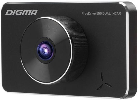 Видеорегистратор Digma FreeDrive 550 DUAL INCAR черный 2Mpix 1080x1920 1080p 150гр. NTK96558