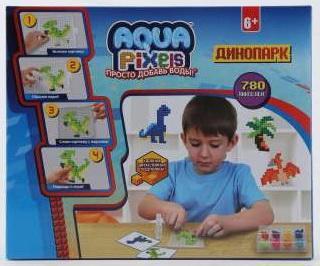 Купить 1toy Aqua Pixels, квадрат. детали, 780 дет Динопарк , Мозаика
