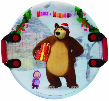 1toy Маша и Медведь ледянка, 54см, кругл.с плотн.ручками, унив. 1toy ледянка 92см маша и медведь 1toy
