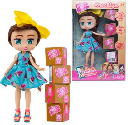 Кукла 1TOY Boxy Girls Brooklyn 20 см. с аксессуарами в 4-х коробочка 4х4х4 см., кор. 18х7,5х27 см. кукла 1toy boxy girls willa 20 см с аксессуарами в 4 х коробочка 4х4х4 см кор 18х7 5х27 см