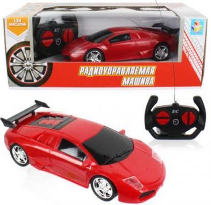 Машинка на радиоуправлении 1toy Спортавто пластик, металл от 5 лет красный машинка на радиоуправлении balbi гоночная 1 20 красный от 5 лет пластик металл rcs 2001