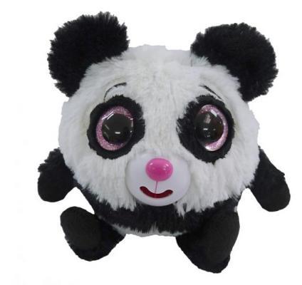 Купить Интерактивная мягкая игрушка панда 1toy Дразнюка-Zoo Плюшевая панда текстиль наполнитель пластик белый черный розовый 13 см, белый, розовый, черный, пластик, текстиль, наполнитель, Интерактивные мягкие игрушки