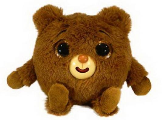 цена на Интерактивная мягкая игрушка медведь 1toy Дразнюка-Zoo медвежонок искусственный мех текстиль пластик наполнитель коричневый 13 см