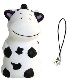 Купить Антистрессовая игрушка корова 1toy М-м-мняшка. Корова полимер металл белый черный, белый, черный, металл, полимер, Интерактивные мягкие игрушки