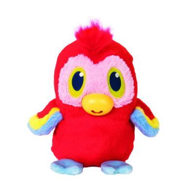 Купить Интерактивная игрушка попугай 1toy Дразнюгай текстиль пластик 20 см, разноцветный, пластик, текстиль, Интерактивные мягкие игрушки