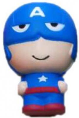 Купить Антистрессовая игрушка капитан Америка 1toy М-м-мняшка. Капитан Америка вспененный полимер 11 см, разноцветный, Интерактивные мягкие игрушки