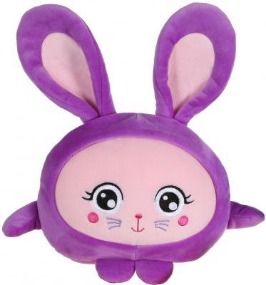 Купить Мягкая игрушка зайка 1toy Т14198 текстиль фиолетовый 20 см, Интерактивные мягкие игрушки
