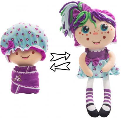 Фото - Мягкая игрушка кукла 1toy Девчушка-Вывернушка. Варюшка текстиль голубой фиолетовый little you мягкая кукла кейт цвет одежды голубой желтый
