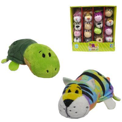 Вывернушка тигр-Черепаха 1toy 2в1 Радужный тигр-Черепаха текстиль 12 см мягкие игрушки 1toy вывернушка тигр черепаха