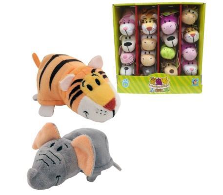 Купить Вывернушка Слон-Тигр 1toy 2в1 Слон-Тигр плюш 12 см, разноцветный, Интерактивные мягкие игрушки