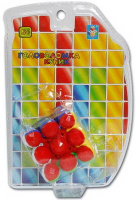 цена на 1toy Головоломка кубик 3D, 3*3 куб, 6см, блистер