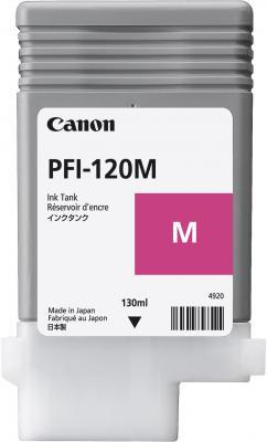 Картридж струйный Canon PFI-120 M 2887C001 пурпурный для Canon ТМ-серия картридж струйный canon pfi 120 bk 2885c001 черный для canon тм серия