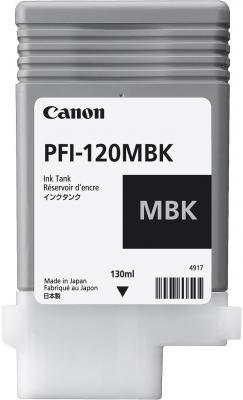 Картридж струйный Canon PFI-120 MBK 2884C001 черный матовый для Canon ТМ-серия картридж струйный canon pfi 120 bk 2885c001 черный для canon тм серия