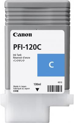 Картридж струйный Canon PFI-120 C 2886C001 голубой для Canon ТМ-серия картридж струйный canon pfi 120 bk 2885c001 черный для canon тм серия