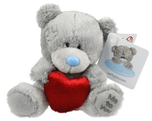 Мягкая игрушка мишка 1toy Мишка с сердечком плюш синтепон пластик текстиль 9 см мягкая игрушка медведь ty мишка brownie плюш коричневый 25 см 90222