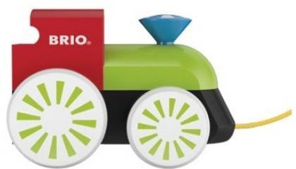 Каталка Brio локомотив разноцветный дерево