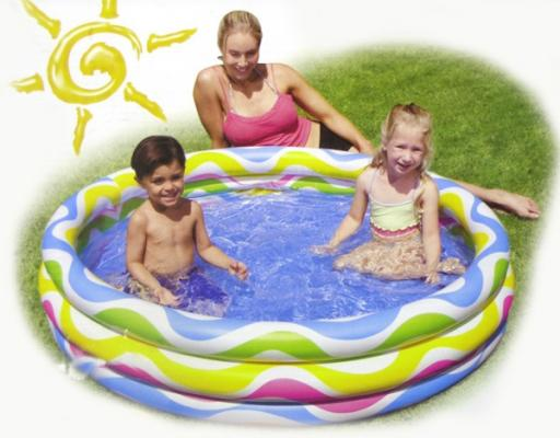 Надувной бассейн Intex Волны с58449