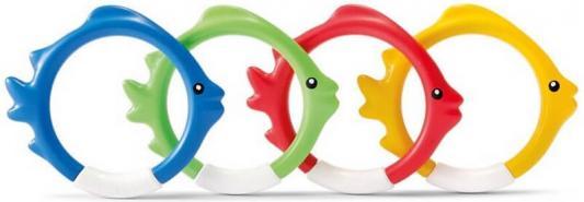 подводные кольца, рыбки 4цв от 6лет кольца подводные для игры intex рыбки