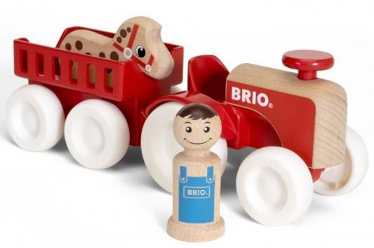 "BRIO ""Мой родной дом"" Набор ""Фермерский трактор"" 24,5х7,4х9,8 см. (4 элемента), кор. 30х14х10 см. все цены"