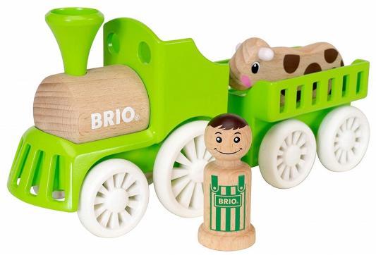 "BRIO ""Мой родной дом"" Набор ""Фермерский поезд"" (4 элемента) 25,9х6,8х11,6 см., кор. 30х14х10 см. все цены"