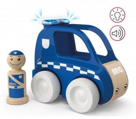 BRIO Мой родной дом Набор Полицейская машина (2 элемента), свет, звук, батарейки 2хLR44 вкл., 14х8х10,6 см., кор. 20х14х10 см.