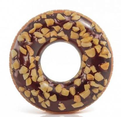 Надувной круг Intex Пончик шоколад с орехами с56262