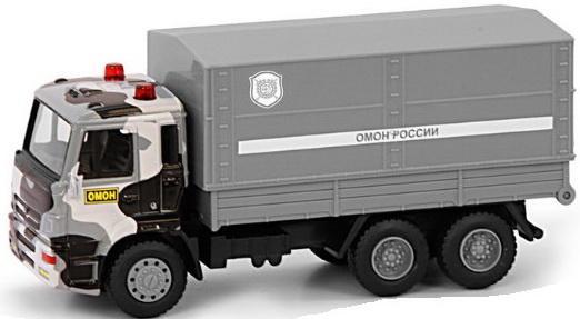 цены Play Smart 1:54 инерционный металлический грузовик ОМОН , 17x9x6,5см