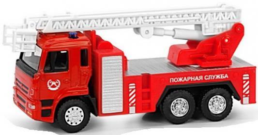 Play Smart 1:54 инерционная металлическая пожарная машина , 17x9x6,5см машина инерционная play smart пожарная 1 54