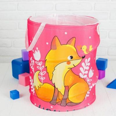 Купить Корзина для игрушек Лисичка, Наша Игрушка, разноцветный, текстиль, Хранение игрушек
