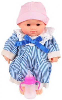 Купить Пупс Мой малыш 19см., звук, бутылочка, бат.3*AG13 вх.в комп., в асорт., пакет, Наша Игрушка, 19 см, пластик, текстиль, Классические куклы и пупсы