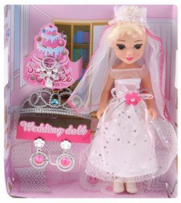 Кукла-невеста 22см, аксесс.4 предм., кор. мужские часы слава 1409731 2115 300