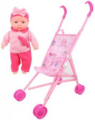 Купить Игровой набор Наша Игрушка Пупс 30 см со звуком, ПВХ, текстиль, пластик, Мягконабивные куклы