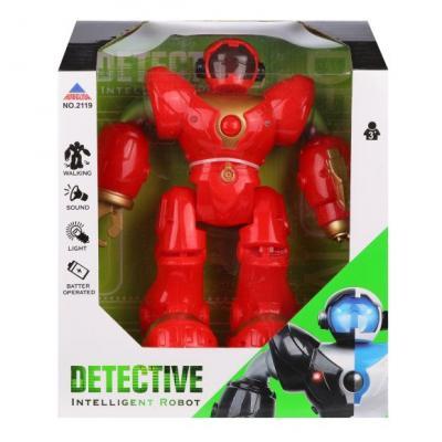 Купить Робот электронный Наша Игрушка Робот 25 см двигающийся со звуком светящийся, Игрушки Роботы
