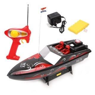 Катер на радиоуправлении Наша Игрушка Катер пластмасса от 3 лет черно-красный катер наша игрушка солнечное лето красный m6524