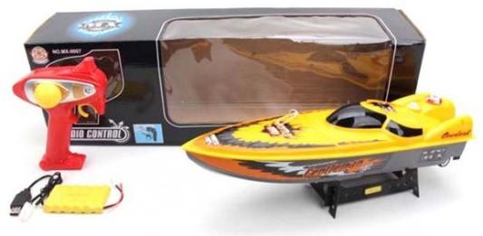 Катер на радиоуправлении Наша Игрушка Катер пластмасса от 3 лет желтый катер наша игрушка катер с заводным механизмом зеленый m6514