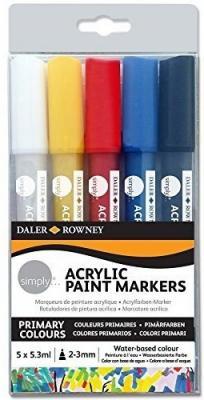 Купить Набор DALER ROWNEY 126300903 Маркеры акриловые Simply 5 цв., Прочие краски