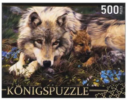 Фото - Пазл Konigspuzzle Люси Билодо. Волчица и волчонок 500 элементов konigspuzzle пазл masterpuzzle осенний нью йорк 500 элементов