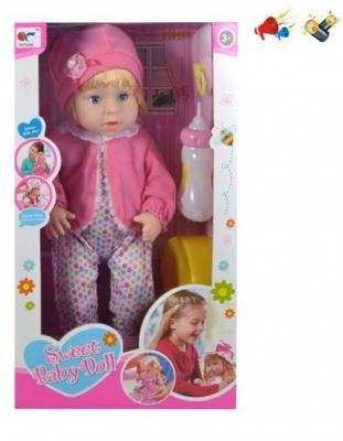Кукла Наша Игрушка Кукла 41 см со звуком писающая пьющая цена