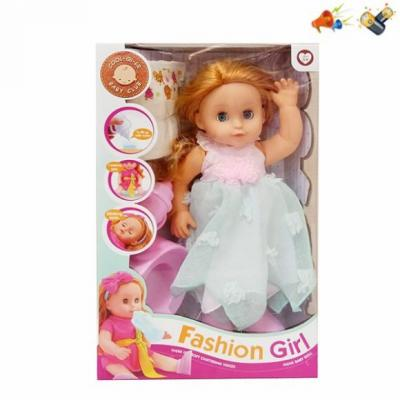 Кукла Наша Игрушка Кукла 35 см со звуком писающая пьющая цена