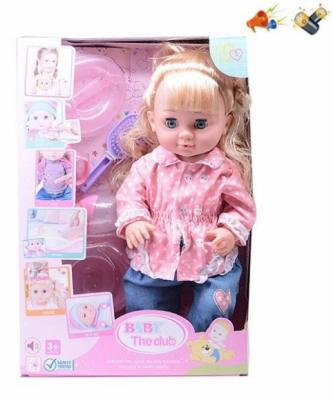 Кукла Наша Игрушка Кукла 40 см со звуком писающая пьющая цена