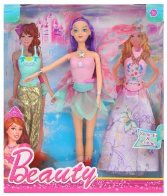 Купить Кукла Наша Игрушка 1580-A с одеждой 29 см в ассортименте, пластмасса, текстиль, Классические куклы и пупсы