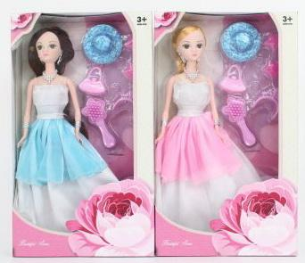 Купить Кукла 29 см в платье с 6шт аксессуаров, в ассортименте, Наша Игрушка, пластик, текстиль, Классические куклы и пупсы