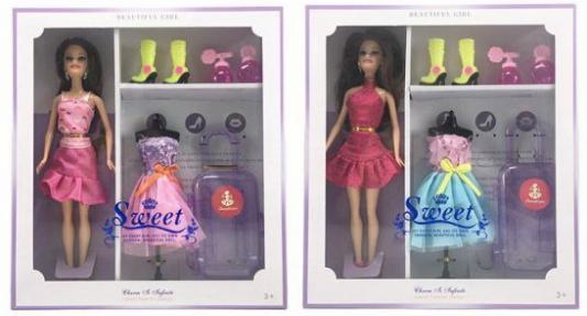 Кукла 29 см Путешествие, аксесс. 7 предм., в ассорт., кор. цена