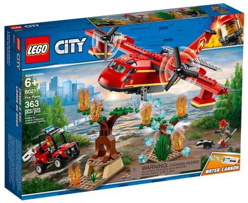 Конструктор LEGO City Fire: Пожарный самолёт 363 элемента 60217 конструктор lego city патрульный самолёт 54 дет 60206