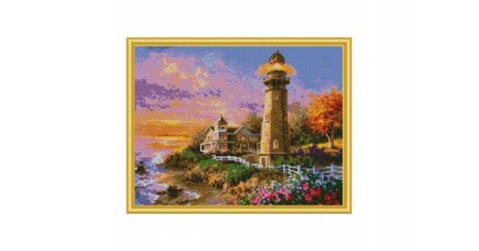 Мозаика алмазная РЫЖИЙ КОТ Старинный маяк