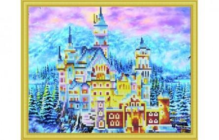 Фото - Мозаика алмазная РЫЖИЙ КОТ Зимний замок Нойшванштайн коробка рыжий кот 33х20х13см 8 5л д хранения обуви пластик с крышкой