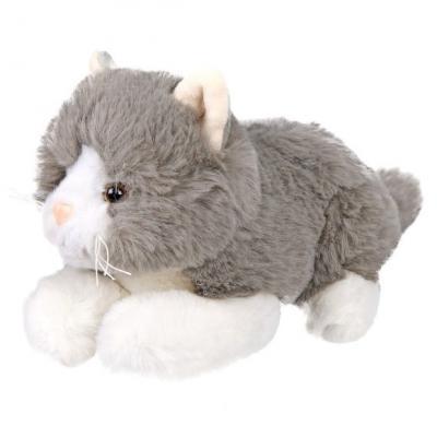 Мягкая игрушка котенок Fluffy Family Дымка искусственный мех трикотаж пластик серый 20 см игрушка мягкая fluffy family обезьянка ловкий никки 40см