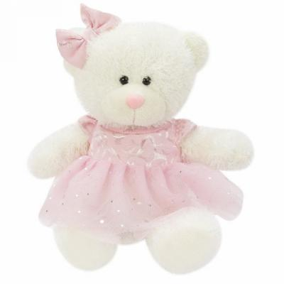 Мягкая игрушка мишка Fluffy Family Лапочка искусственный мех трикотаж пластик полиэфирное волокно белый розовый 20 см мягкая игрушка fluffy family мишка тошка