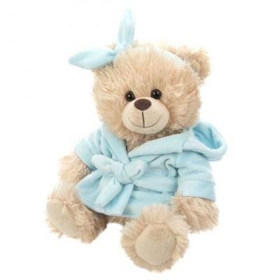Мягкая игрушка мишка Fluffy Family Домашний искусственный мех трикотаж пластик голубой бежевый 20 см мягкая игрушка панда fluffy family крошка панда 30 см белый черный бежевый текстиль искусственный мех пластик 681241