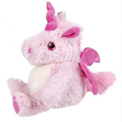 Мягкая игрушка единорог Fluffy Family Единорог искусственный мех трикотаж пластик полиэфирное волокно розовый 18 см